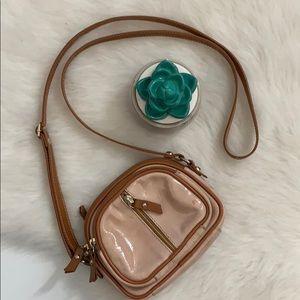 Valentina | mini convertible patent leather bag